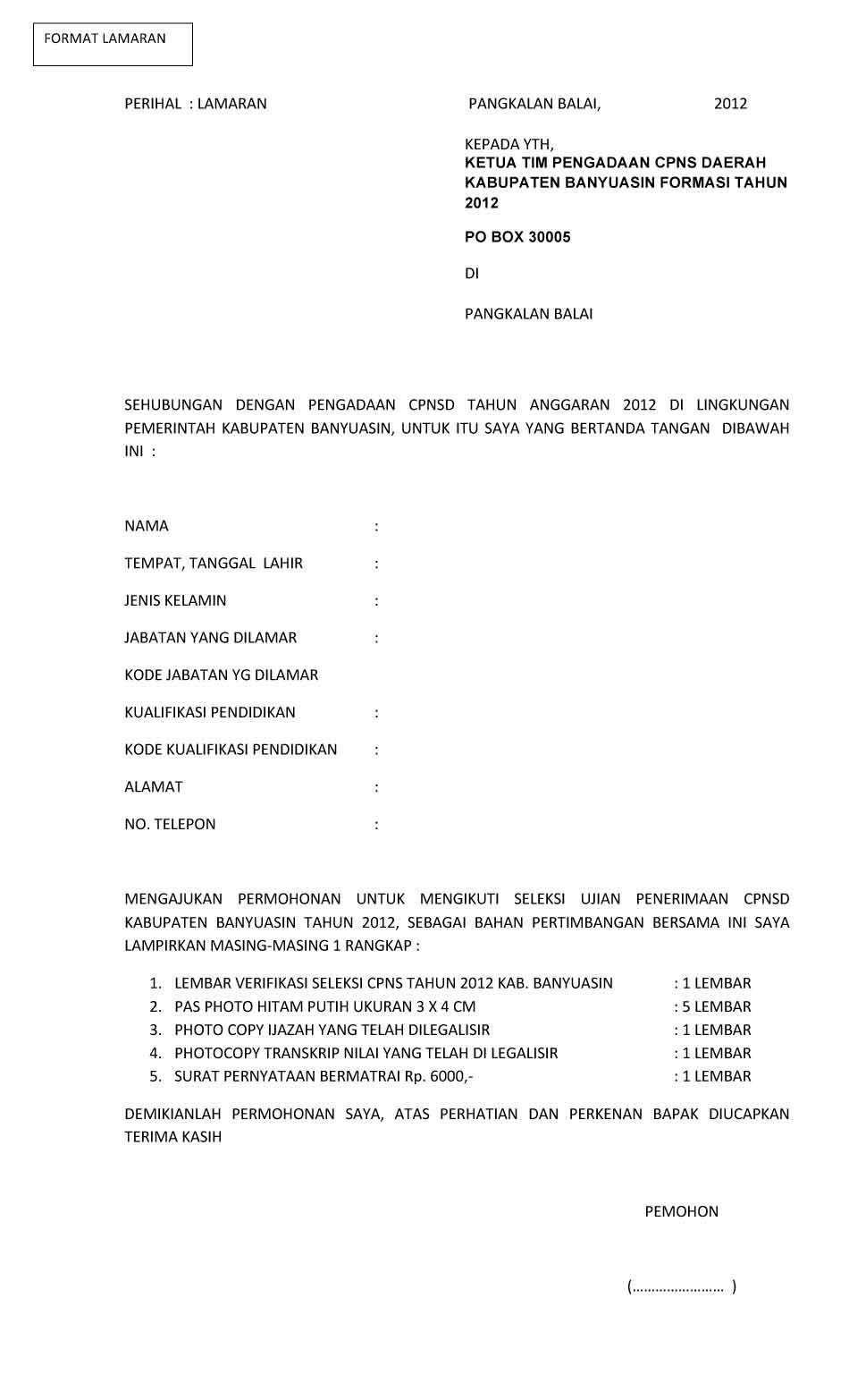 lowongan kerja cpns kab banyuasin ta 2012 2013 juli 2019 terbaru info cpns 2019 bumn 2019